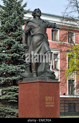 Monument to Peter the great, the founder of the Russian fleet. Kaliningrad (Koenigsberg before 1946), Russia - Stock Photo