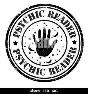 Psychic reader stamp - Stock Photo