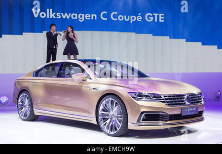 Shanghai, China. 20th Apr, 2015. HANDOUT - A handout picture provided by Friso Gentsch/Volkswagen/dpa shows the - Stock Photo