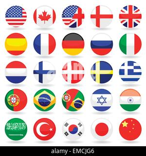 Web Language Icon Set - Stock Photo