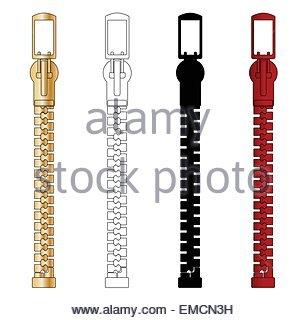 Zippers - Stock Photo