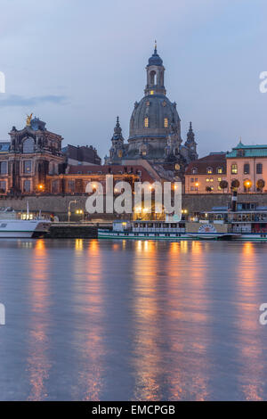 Germany, Dresden, view to Dresden Frauenkirche in the morning - Stock Photo