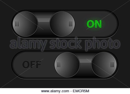 Vector toggle buttons for interface design - Stock Photo