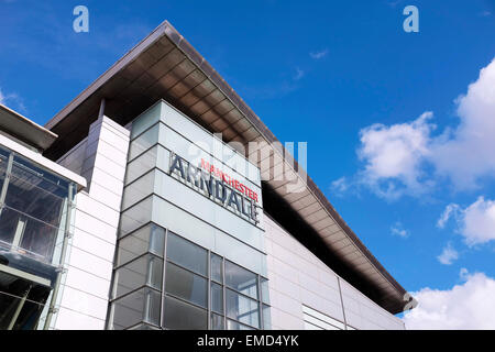 Signage on the Manchester Arndale shopping centre UK - Stock Photo