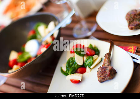 Delicious lunch  Grilling at summer weekend - Stock Photo