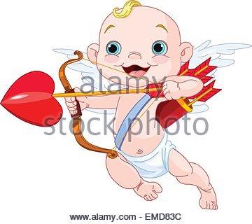 Valentines Day Cupid - Stock Photo