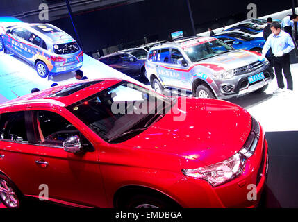 Shanghai, China. 20th Apr, 2015. Photo taken on April 20, 2015 shows vehicles displayed in the Auto Shanghai 2015, - Stock Photo