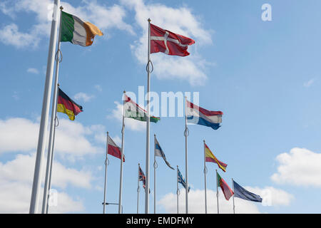 Flags of countries in Europe - Stock Photo