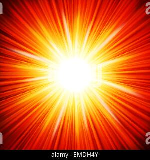 Star burst red and yellow fire. EPS 10 - Stock Photo