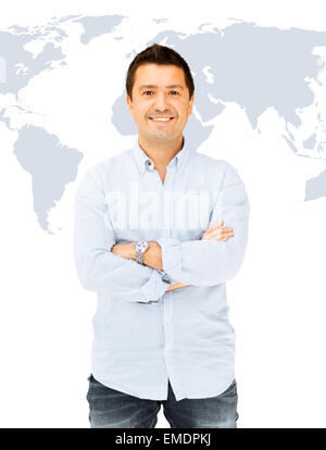 handsome smiling man - Stock Photo