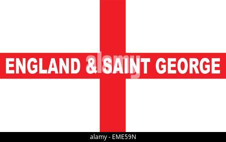 Flag of England and Saint George - Stock Photo