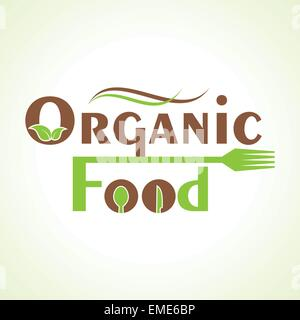 creative organic food design word concept vector - Stock Photo