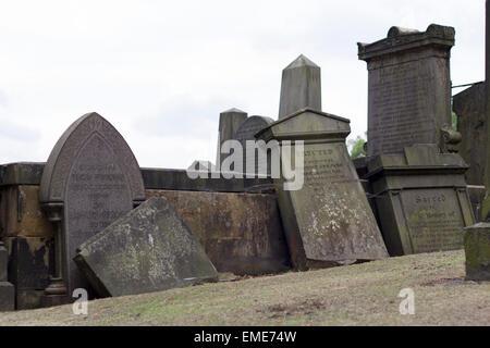 New Calton Burial Ground. - Stock Photo