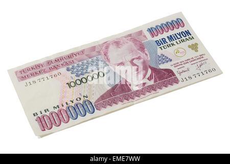 A one million Turkish Lira bank note - Stock Photo