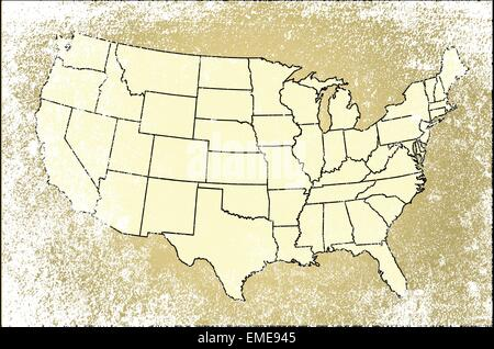United States of America States Map