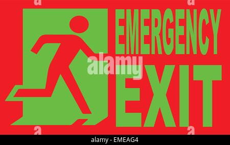 Emergency Exit - Stock Photo