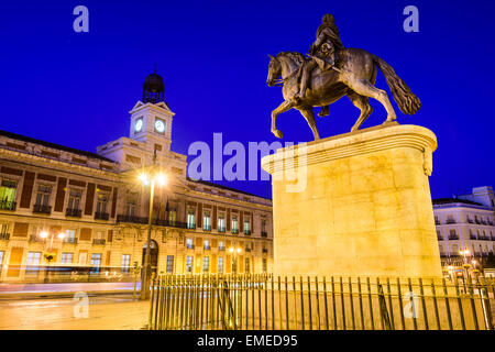 Madrid, Spain at Puerta del Sol. - Stock Photo