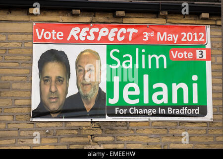 London, UK. 20th Apr, 2015. 20th April 2015 Respect party using a  poster from 2012 Credit:  Paul Chambers/Alamy - Stock Photo