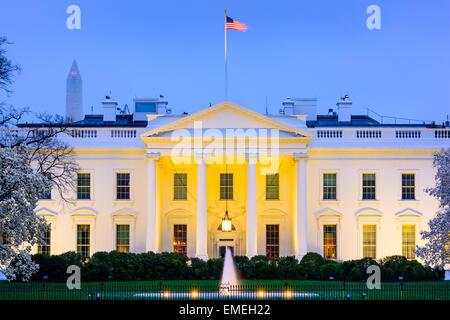 Washington, D.C. at the White House. - Stock Photo