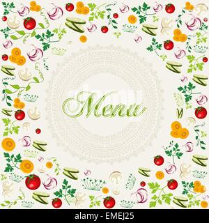 Vintage healthy food menu background - Stock Photo