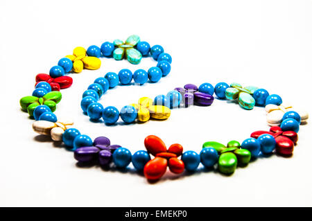 Colorful necklace beads - Stock Photo
