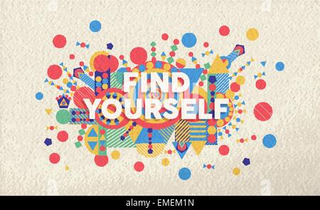 Find yourself quote poster design background - Stock Photo