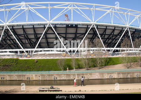 Queen Elizabeth Olympic Park Stratford East London England UK Europe - Stock Photo