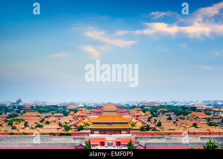 Beijing, China overlooking the Forbidden City.