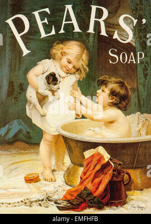 A Victorian advertisement for Pear's Soap - Stock Photo