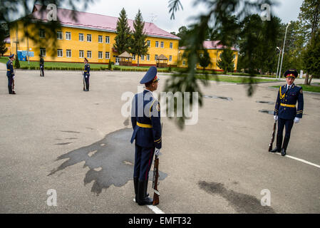 Lviv, Ukraine. 20th Apr, 2015. Ukrainian soldiers during opening ceremony Ukrainian-US Exercise Fearless Guardian - Stock Photo