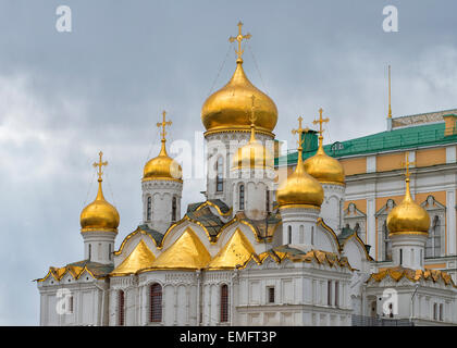 Annunciation Cathedral in Moscow, Russia - Stock Photo