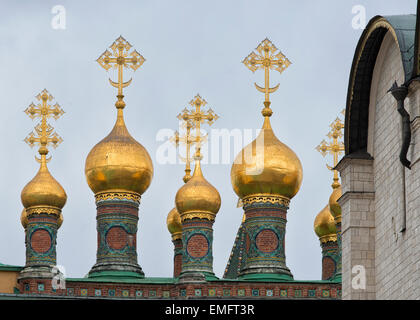 Church of Laying Our Lady's Holy Robe in Moscow, Russia - Stock Photo