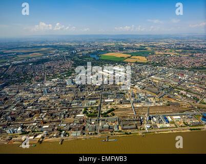 BASF Ludwigshafen, Ludwigshafen am Rhein, Rhineland-Palatinate, Germany - Stock Photo