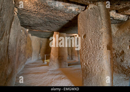 Dolmen - Cueva de Menga, Antequera, Malaga province, Region of Andalusia, Spain, Europe - Stock Photo