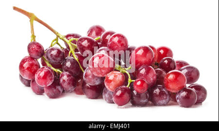 Red grape isolated on white background - Stock Photo