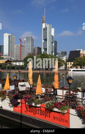 Germany, Hessen, Frankfurt am Main, skyline, - Stock Photo