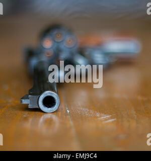 A .357 magnum revolver. - Stock Photo