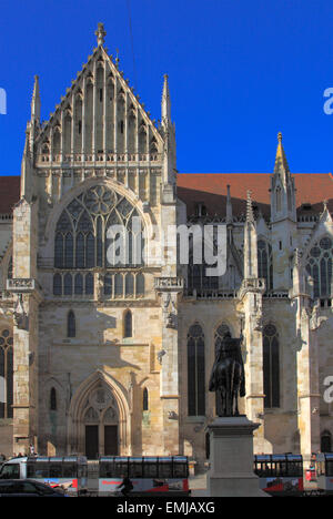 Germany, Bavaria, Regensburg, Dom, St Peter's Cathedral, - Stock Photo