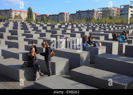 Germany, Berlin, Holocaust Memorial, - Stock Photo