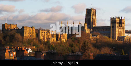 Durham Castle and Cathedral - Stock Photo
