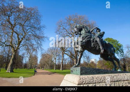 The Physical Energy statue located in Kensington Gardens, London. - Stock Photo