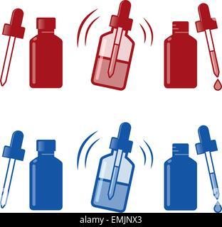 Medical Nasal Drops Antiseptic Drugs Plastic Bottle icon - Stock Photo