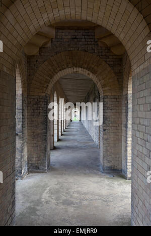 Colonnade at Brompton Cemetery, London - Stock Photo