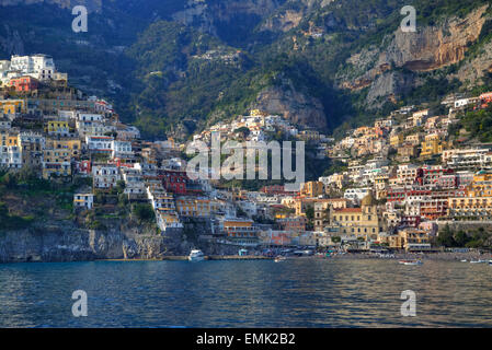 Positano, Coast of Amalfi, Salerno, Campania, Italy - Stock Photo