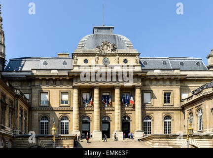 Palace of Justice, Palais de Justice, Paris, France - Stock Photo