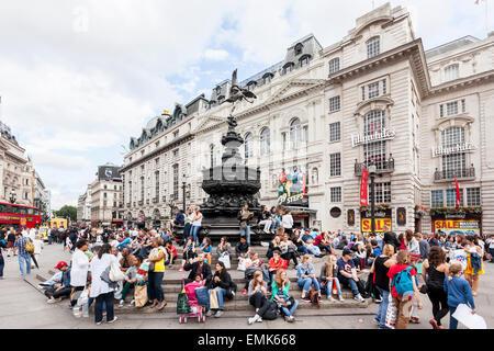 Piccadilly Circus, London, England, United Kingdom - Stock Photo