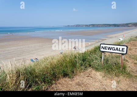 Newgale beach, Pembrokeshire Coast National Park - Stock Photo