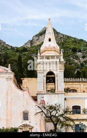 Chiesa di san Giuseppe on Piazza IX Aprile, Taormina, Sicily. T - Stock Photo