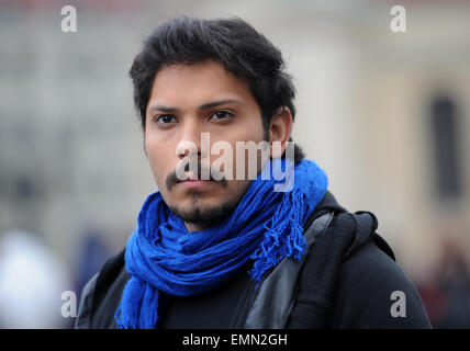 Berlin, Germany. 22nd Apr, 2015. Actor Mohammad Almusalam during the shooting of the Arabic TV series 'Memory of - Stock Photo
