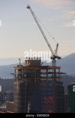 building construction in Vancouver - Stock Photo